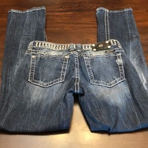 Miss Me studded embellished jeans. Gently used con